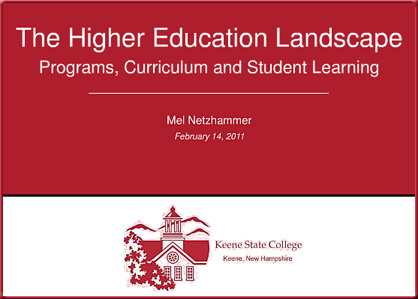 The Higher Ed Landscape -- February 2011