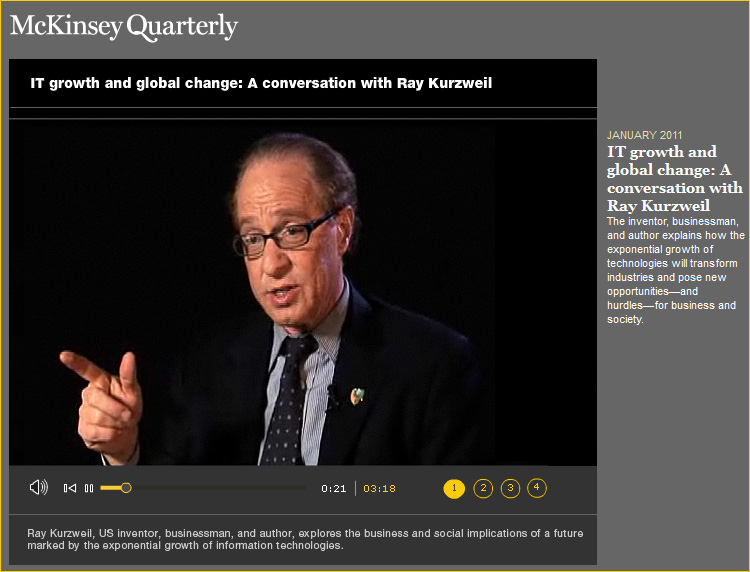 IT growth and global change: A conversation with Ray Kurzweil