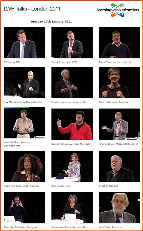Learning Without Frontiers- from January 2011-Day 2 in London