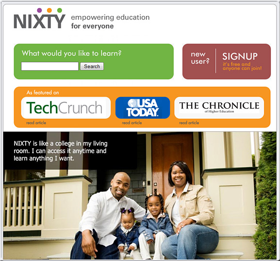 Nixty.com -- education for everyone