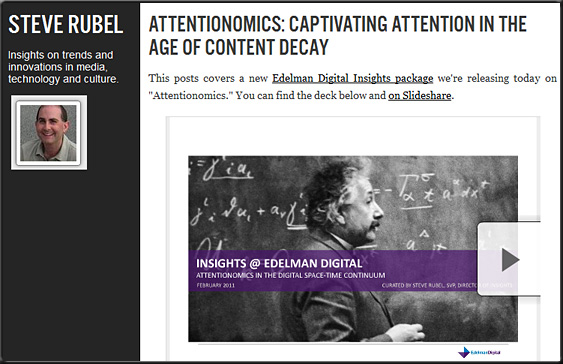 Attentionomics: Captivating Attention in the Age of Content Decay -- Steve Rubel