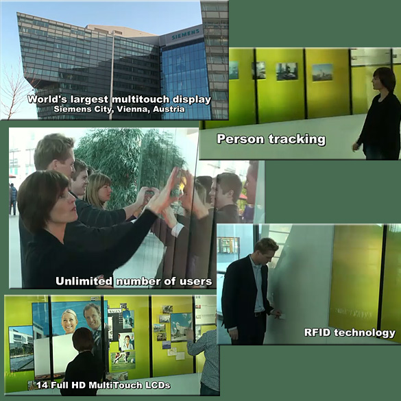 As of Feb 1, 2011 -- the world's largest multitouch display