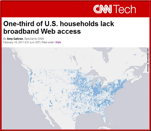 One-third of U.S. households lack broadband Web access