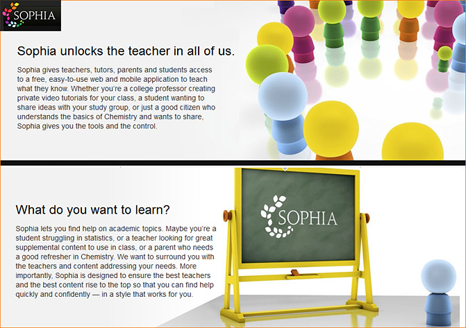 Sophia -- a new online-based learning exchange