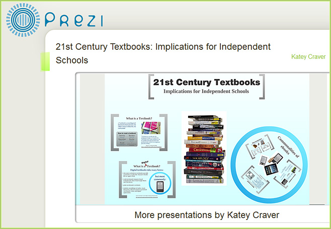 21st Century Textbooks - a Prezi-based presentation by Katey Craver-March-2011