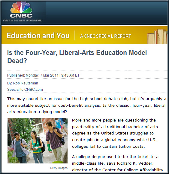 Is the Four-Year, Liberal-Arts Education Model Dead?