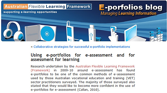 Using e-portfolios for e-assessment and for assessment for learning