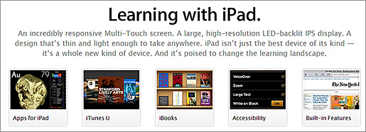 Learning with the iPad