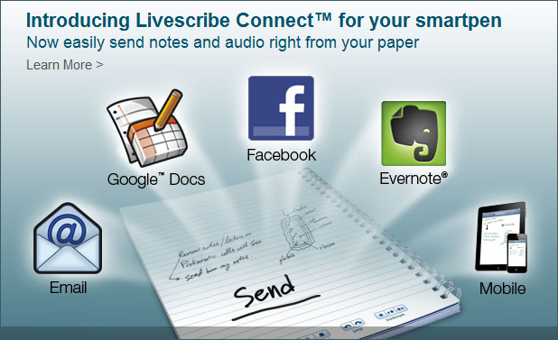 LiveScribe's new connections -- sharp!