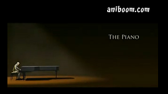 "A wonderful animation entitled, ""The Piano"" -- not a word is spoken, but a wonderful story is told"