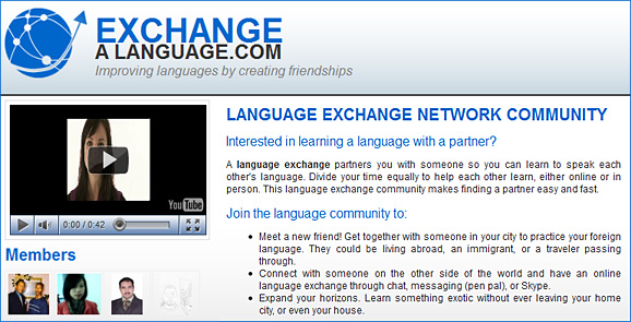 exchangealanguage.com -- Improving languages by creating friendships