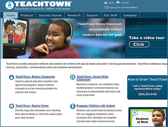 teachtown.com -- educational products for children with autism