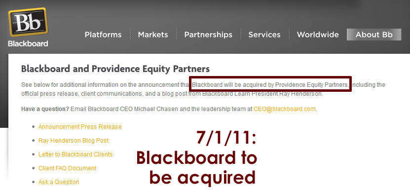Blackboard to be acquired