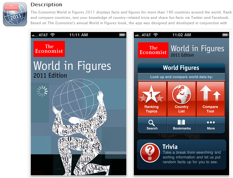 The Economist World in Figures 2011 Edition -- by The Economist