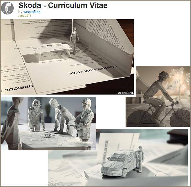 Skoda -- Curriculum Vitae -- from June 2011 -- An amazingly creative resume!