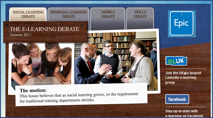 e-learning debate in the UK -- what is the future for traditional training departments?