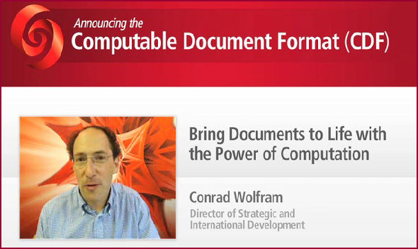 Computable Document Format (CDF) -- from Wolfram in July 2011