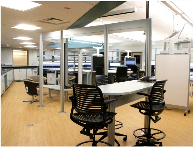 Custer and Calvin's new science lab -- featuring Steelcase's MediaScape product