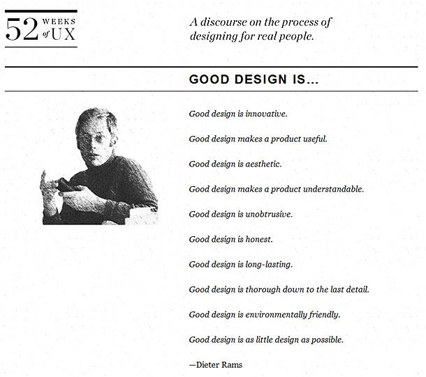 Good design is...    by Dieter Rams