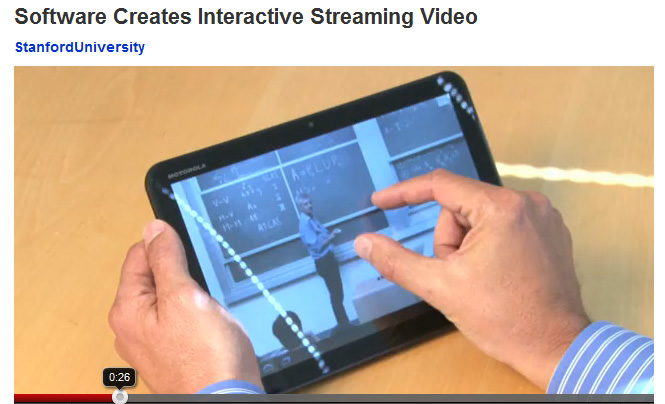 Interactive streaming video technology from Stanford - Summer 2011