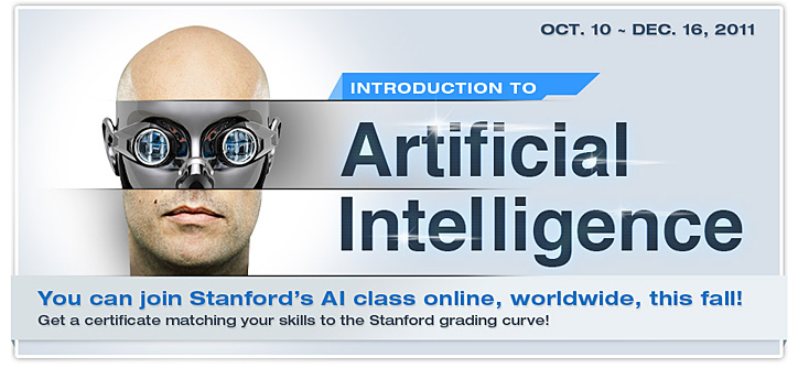 Free Artificial Intelligence (AI) course from Stanford this fall