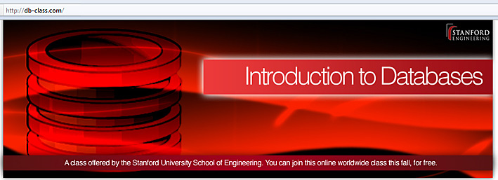 Introduction to databases -- free online course from Stanford for fall 2011