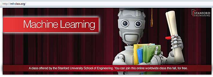 Machine learning course -- free, online course from Stanford this fall