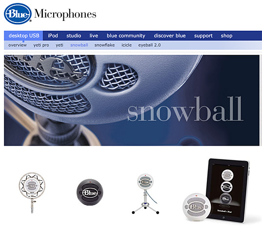 The Snowball microphone -- for when you have a group of people in one location and want to use Wimba Classroom