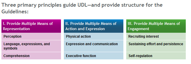 Guidelines for UDL