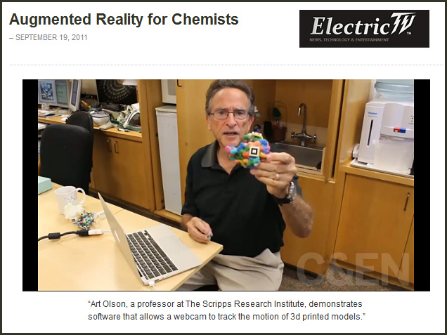 Art Olson: Augmented Reality for Chemists -September 2011