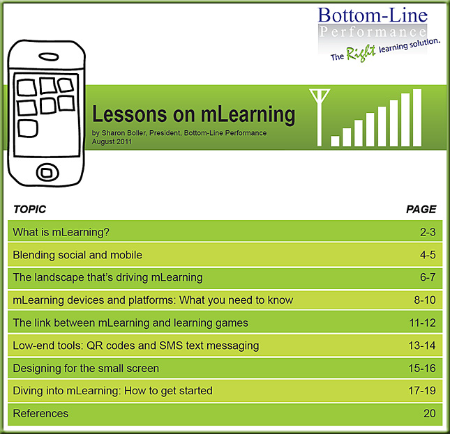 Lessons on mLearning