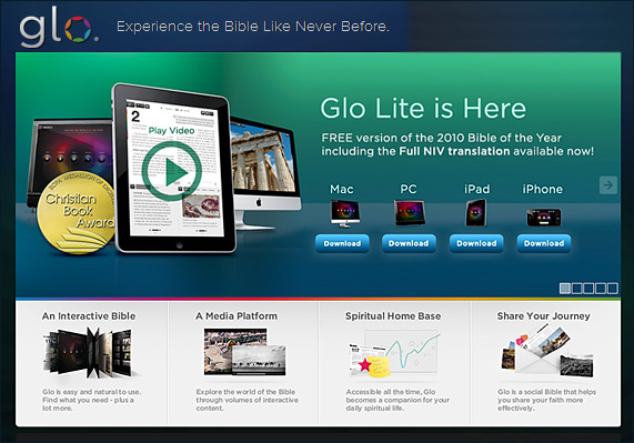 Glo Bible -- http://www.globible.com/