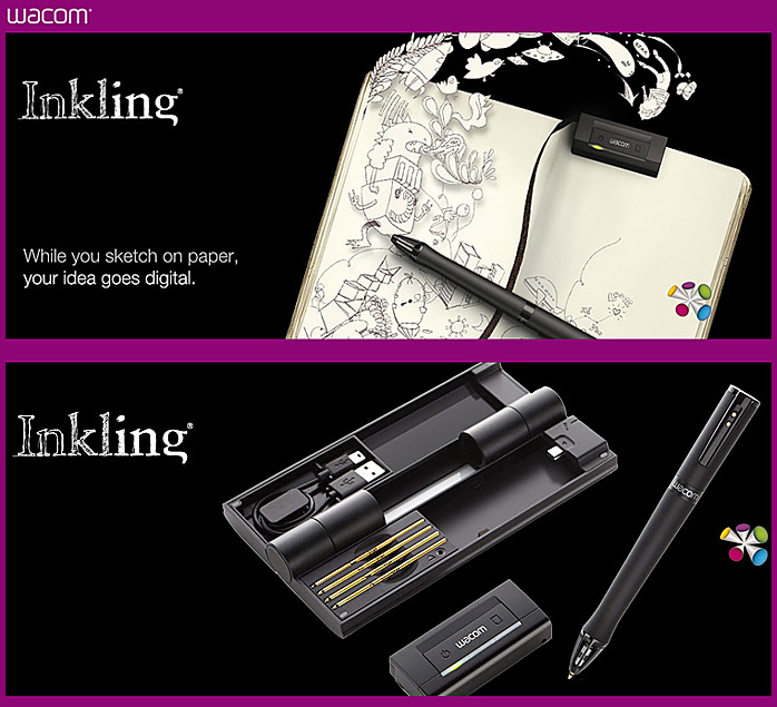 Inkling -- the new digital sketch pen from Wacom