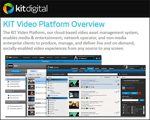 KIT digital Unveils Next Generation Video Platform