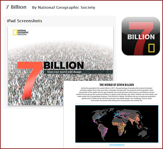 7 billion -- from the National Geographic Society