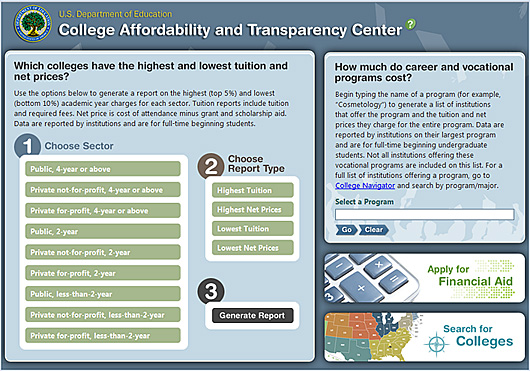 College Affordability & Transparency Center