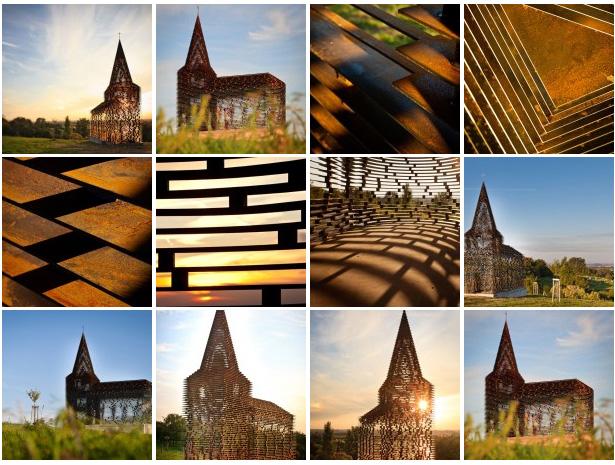 Transparent Steel Church