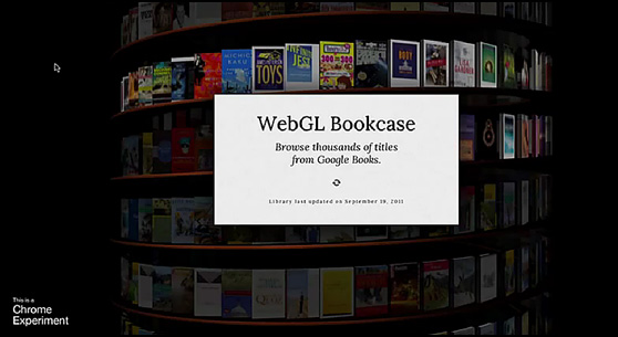 Designing an infinite digital bookcase -- from Google