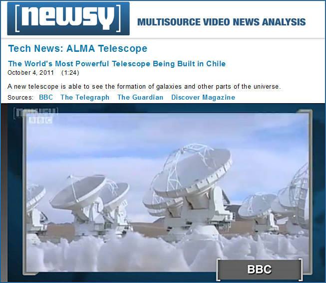 The ALMA Telescope: The world's most powerful telescope being built in Chile -- from Newsy.com