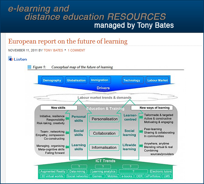 European report on the future of learning - Nov 2011 via Tony Bates