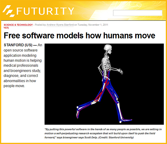 Free software models how humans move -- from Stanford
