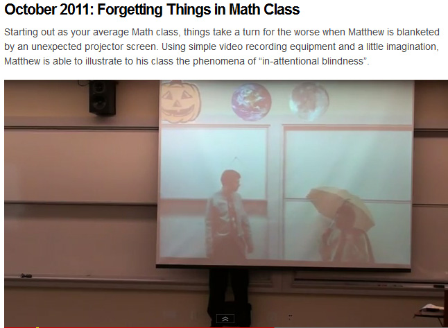 Very clever use of technology by Matthew Weathers -- October 2011