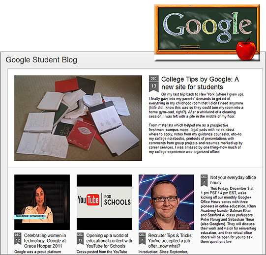 NEW: Google Student Blog