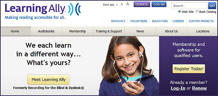 learningally.org -- Formerly Recording for the Blind & Dyslexic®