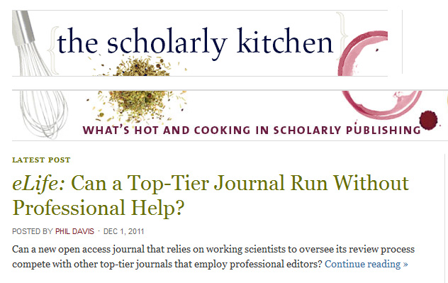 The Scholarly Kitchen - What's hot and cooking in scholarly publishing