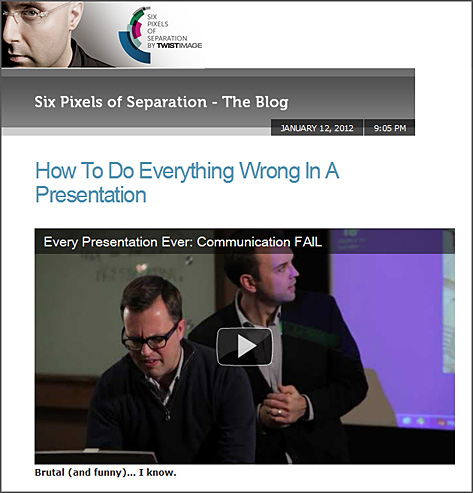How to do everything wrong in a presentation