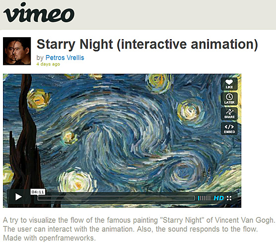 Petros Vrellis' Starry Night - incredible!