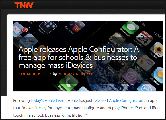 Apple releases Apple Configurator -- A free app for schools to manage mass idevices