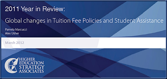 2011 Year in Review: Global Changes in Tuition Fee Policies and Student Financial Assistance.