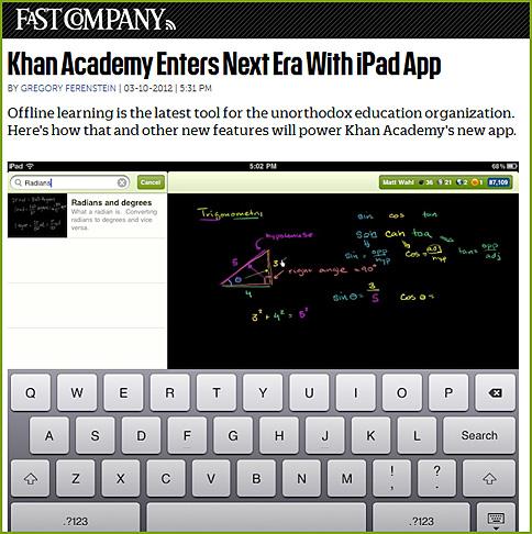 Khan Academy now has an iPad-based app